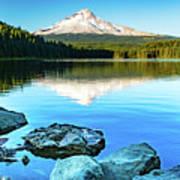 Mt. Hood In Trillium Lake Art Print