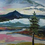 Mt Hood Winter Sunrise Art Print