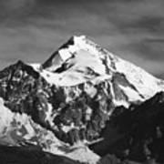 Mt Huayna Potosi In Monochrome Art Print