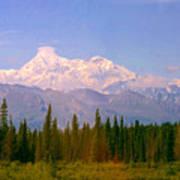 Mt Mckinley 125 Miles Away Art Print