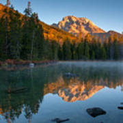Mt. Moran From String Lake Art Print