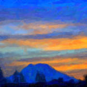 Mt. Rainier At Sunrise Art Print