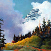 Mt. Rainier In Clouds Art Print