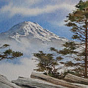 Mt. Rainier Landscape Art Print