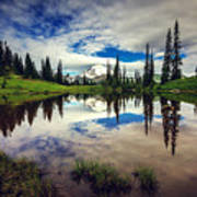 Mt Rainier Reflections Art Print