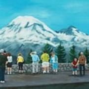 Mt. Rainier Tourists Art Print