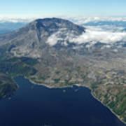 Mt. St. Helens Aerial 2225 Art Print
