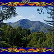 Mt Tamalpais Framed 2 Art Print