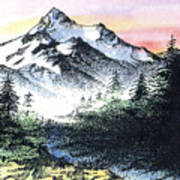 Mt Thielson Oregon Art Print
