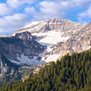 Mt. Timpanogos In The Wasatch Mountains Of Utah Art Print