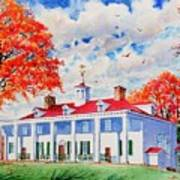 Mt. Vernon East Front In Fall Art Print