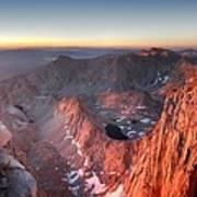 Mt Whitney And Pinnacles Sunrise - John Muir Trail Art Print