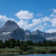 Mt Wilbur In Glacier National Park Art Print