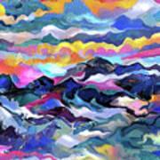 Mts. In The Sea Art Print
