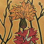 Mucha Ado About Flowers Art Print
