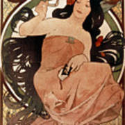 Mucha: Cigarette Paper Ad Art Print