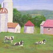 Mud Lake Dairy Farm Art Print