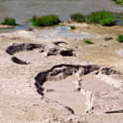 Mud Volcano Area In Yellowstone National Park Art Print