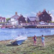 Mudeford Quay Christchurch From Hengistbury Head Art Print