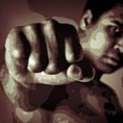 Muhammad Ali Fist Poster Art Print