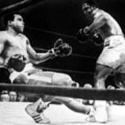 Muhammad Ali Knocked Down By Joe Print by Everett