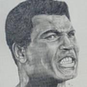 Muhammad Ali Art Print by Stephen Sookoo
