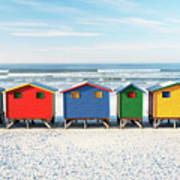 Muizenberg Beach Huts 2 Art Print