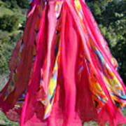 Multi-color Pink Skirt. Ameynra Design Art Print