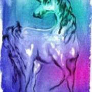 Multi Coloured Unicorn Art Print