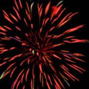 Multicolored Fireworks 2 Art Print