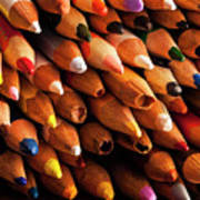 Multicolored Pencils Art Print