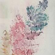 Multicolour Fern Art Print