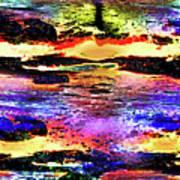 Multiple Underwater Sunsets Art Print