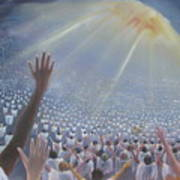 Multitude Of Worshippers Art Print