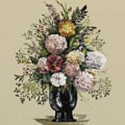 Mums Bouquet Art Print