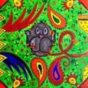 Mun Moji-hookah Monkey Art Print