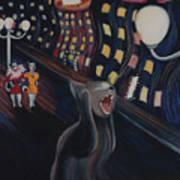 Munch's Cat--the Scream Art Print by Eve Riser Roberts