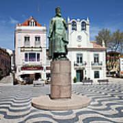 Municipal Square In Cascais Portugal Art Print