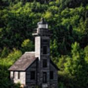 Munising Grand Island Lighthouse Upper Peninsula Michigan Vertical 02 Art Print