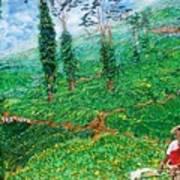Munnar Tea Gardens Art Print