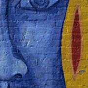 Mural Face Art Print
