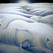 Mural  Winters Embracing Crevice Art Print