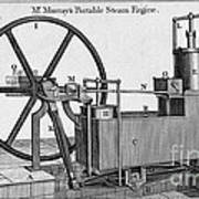 Murrays Portable Steam Engine, 19th Art Print