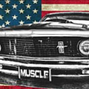 Muscle Us Mustang Art Print