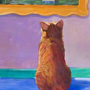Museum Cat 2 Art Print