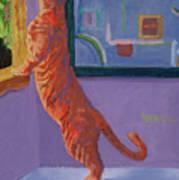 Museum Cat Art Print