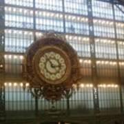 Museum D'orsay Clock Art Print