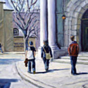Museum Walks Art Print