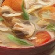 Mushroom And Vegetable Soup Art Print