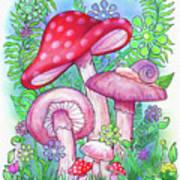Mushroom Wonderland Art Print